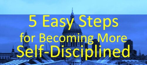 Five Steps to Develop More Discipline